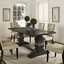 Column Modern Rustic 79 Quot Solid Pine Wood Dining Table Black