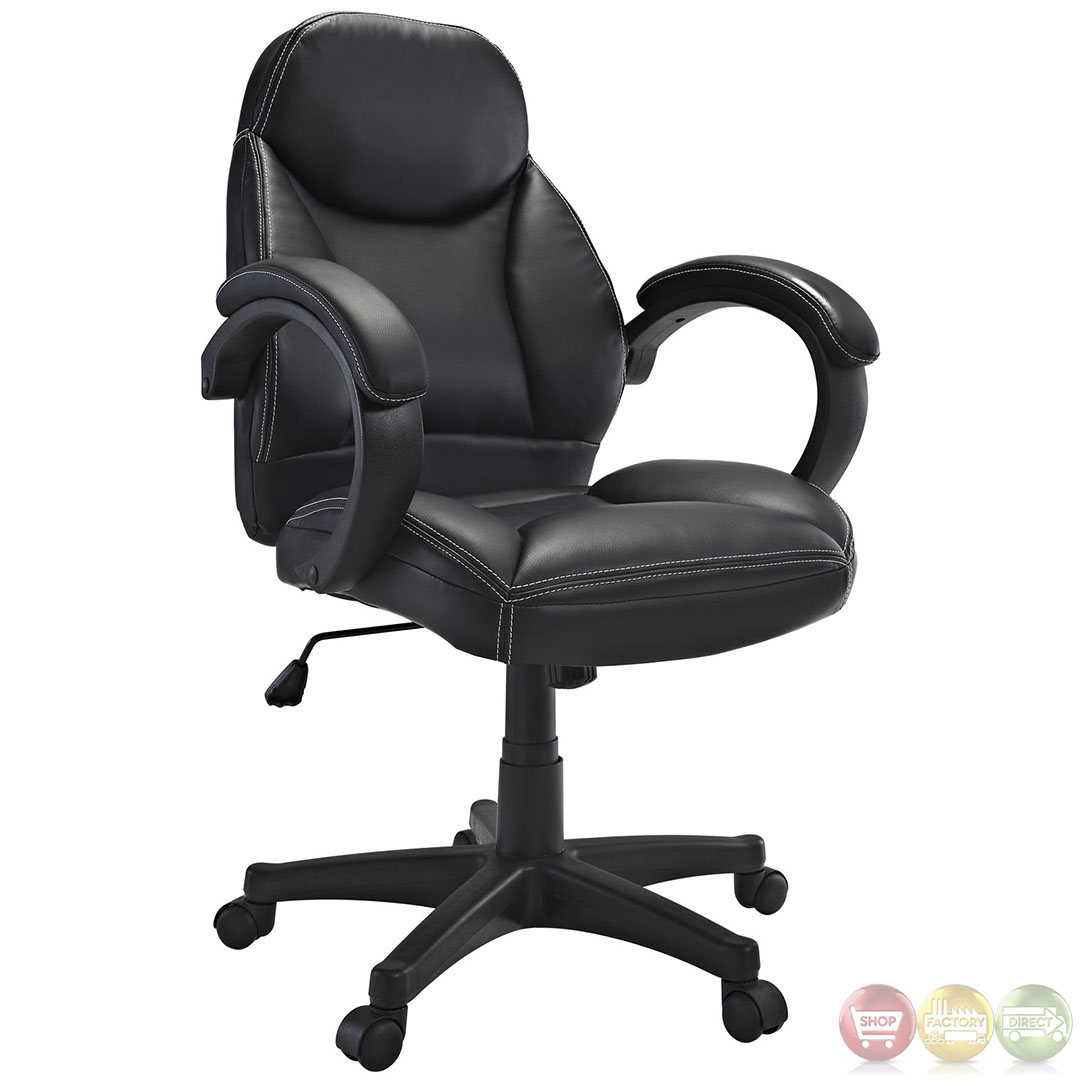 Commander contemporary modern mid back ergonomic executive for Modern executive office chairs