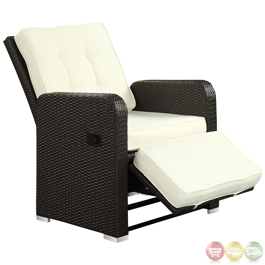 Commence modern outdoor patio armchair recliner for Armchair furniture