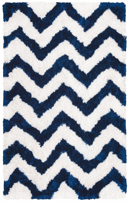 Commons Chevron Hand Tufted Area Rug In