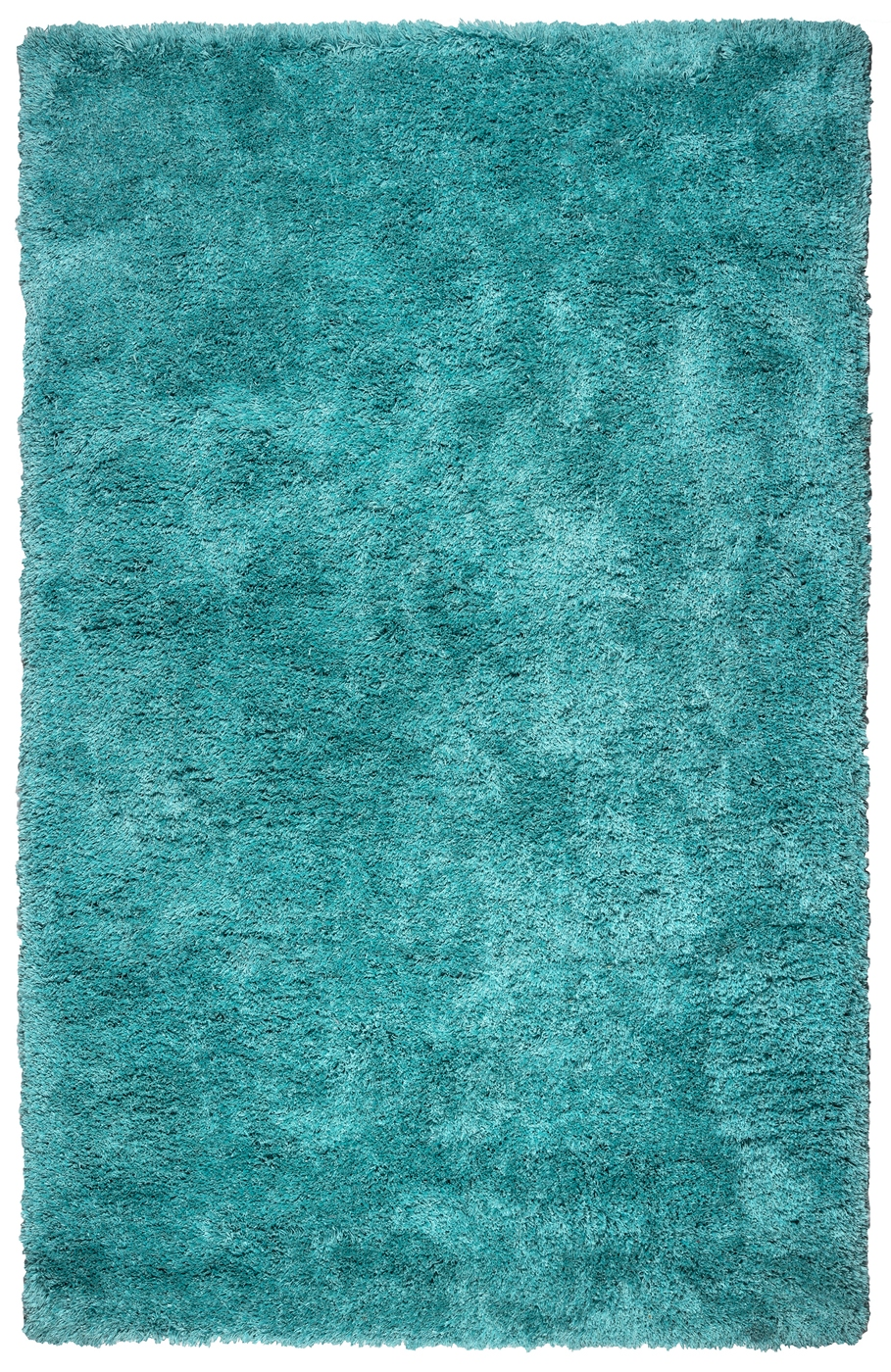 Commons Plush Hand Tufted Area Rug In Solid Aqua Blue 8