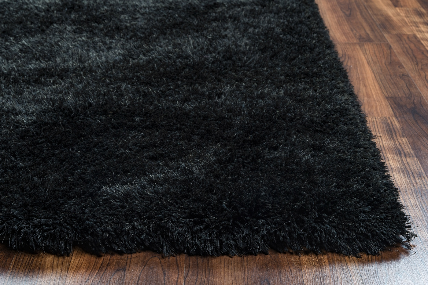Commons Plush Hand Tufted Area Rug In Solid Black 8 X 10