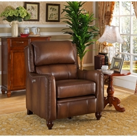 Concord Traditional Top Grain Brown Leather Powered Reclining Chair