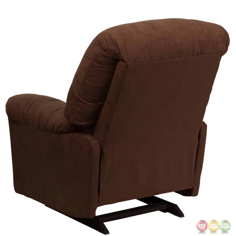 contemporary calcutta chocolate microfiber chaise rocker. Black Bedroom Furniture Sets. Home Design Ideas