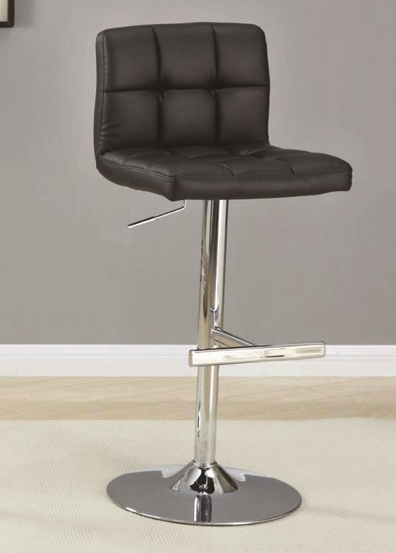 Contemporary Set Of 2 Faux Leather 29 Inch Height Bar Stool