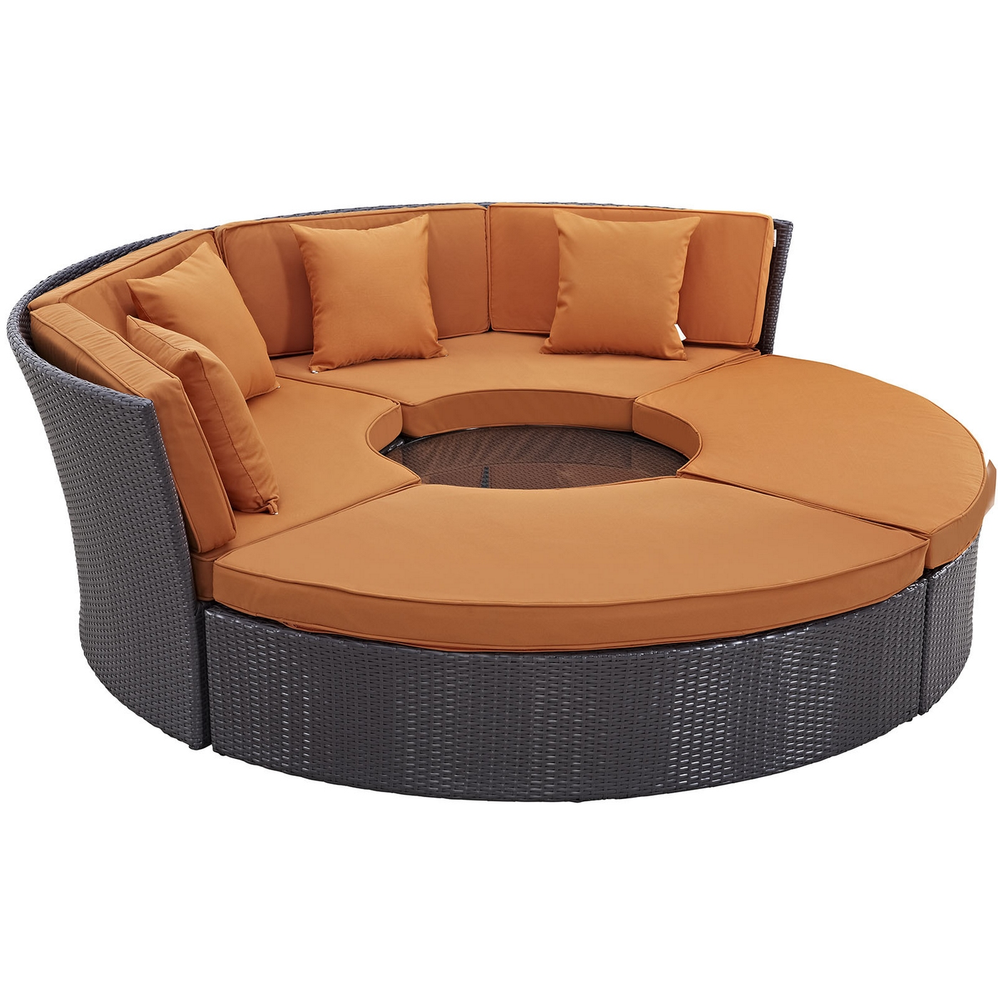 Image is loading convene modular circular outdoor patio daybed set cushions