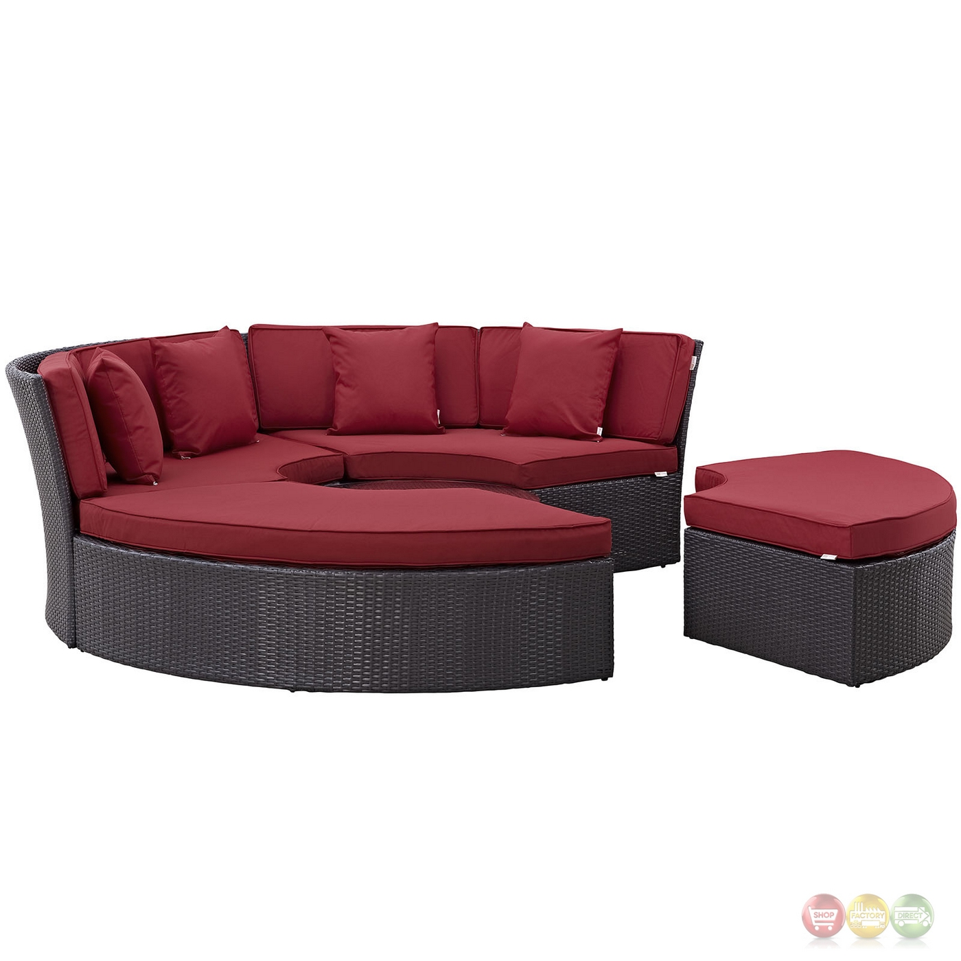 Convene Modular Circular Outdoor Patio Daybed Set With
