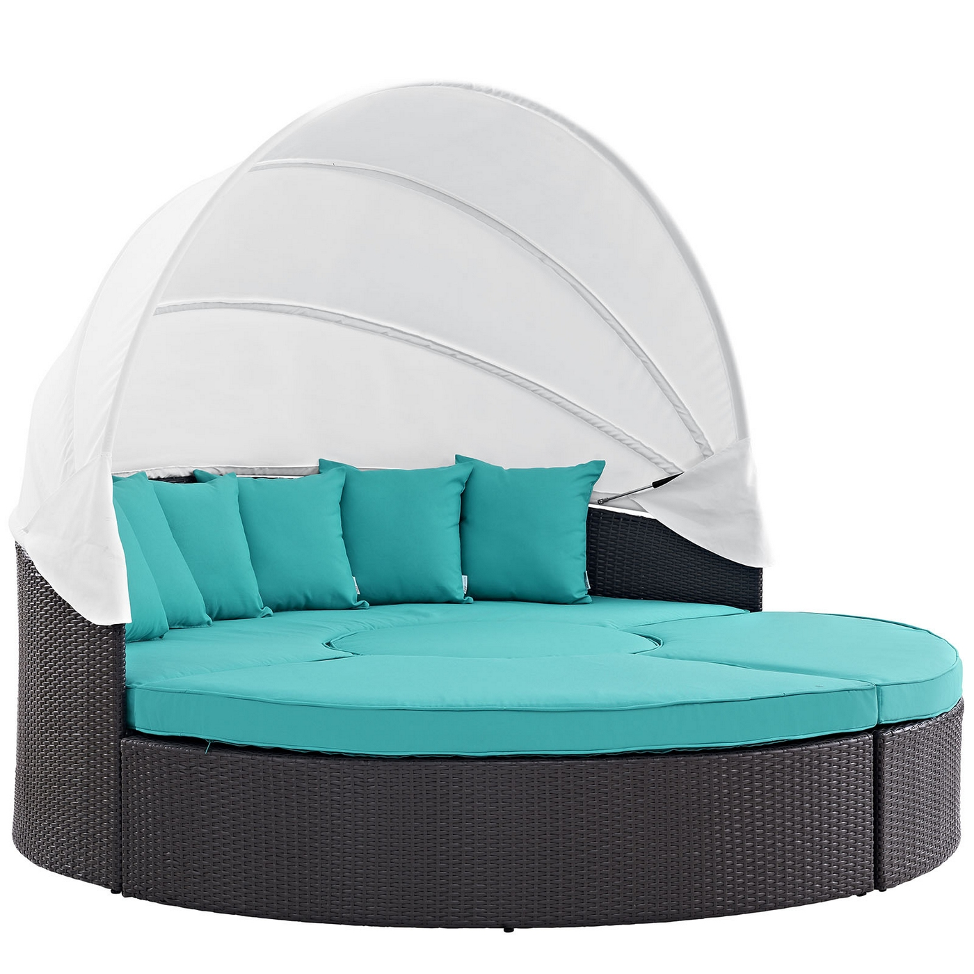 Convene Modular Outdoor Patio Round Canopy Daybed With