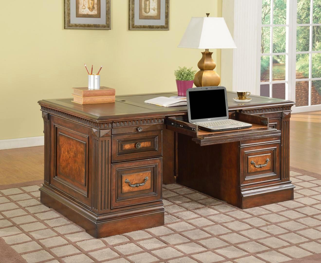 "Corsica Classic 66"" Double Pedestal Executive Desk Vintage C"