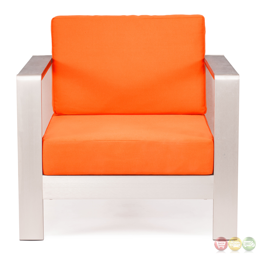 Modern Chair Pillows : Cosmopolitan Orange Arm Chair Cushions Zuo Modern 701841Modern Outdoor FurnitureFree Shipping ...