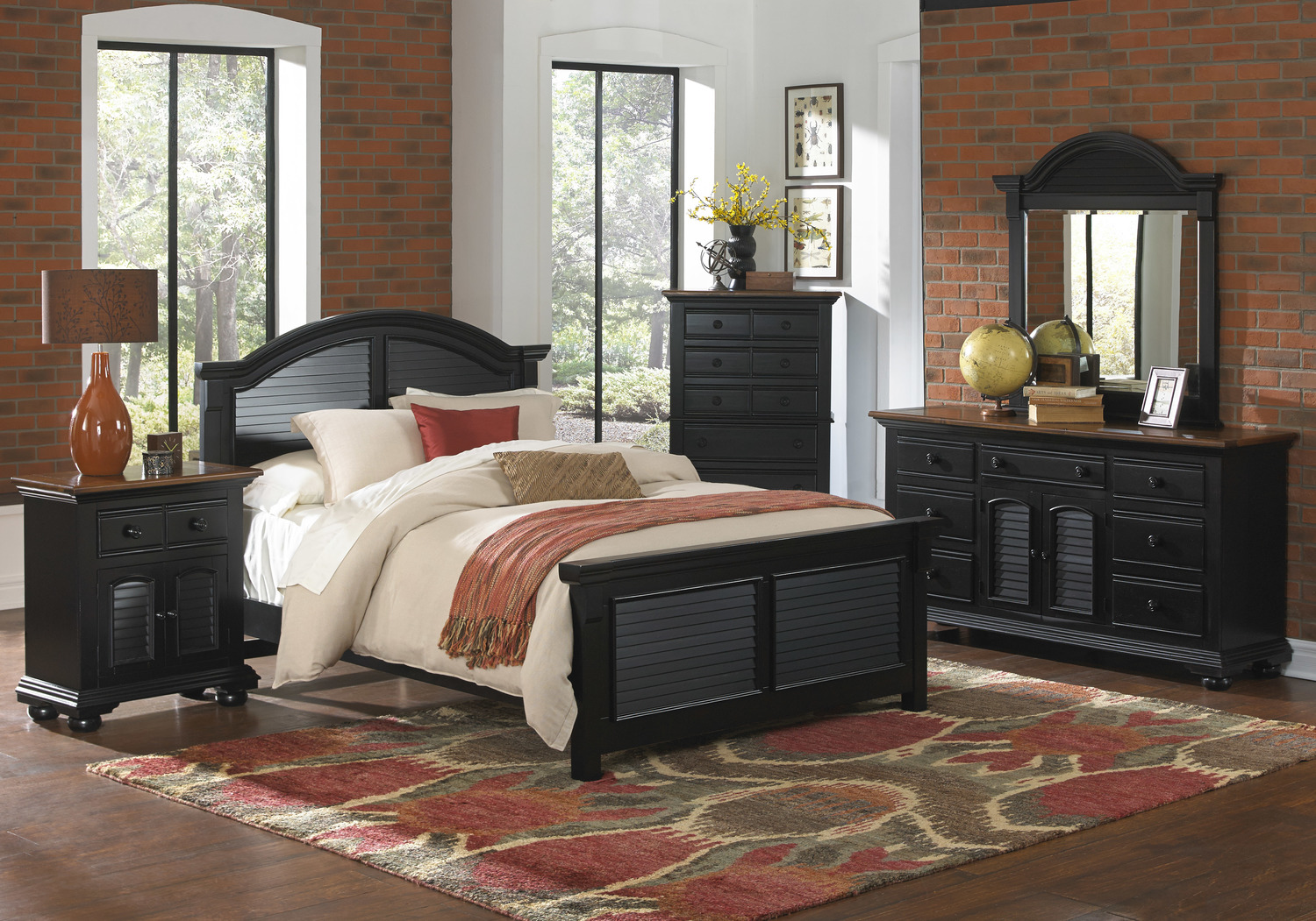 Farmhouse Bedroom Rugs Under Bed