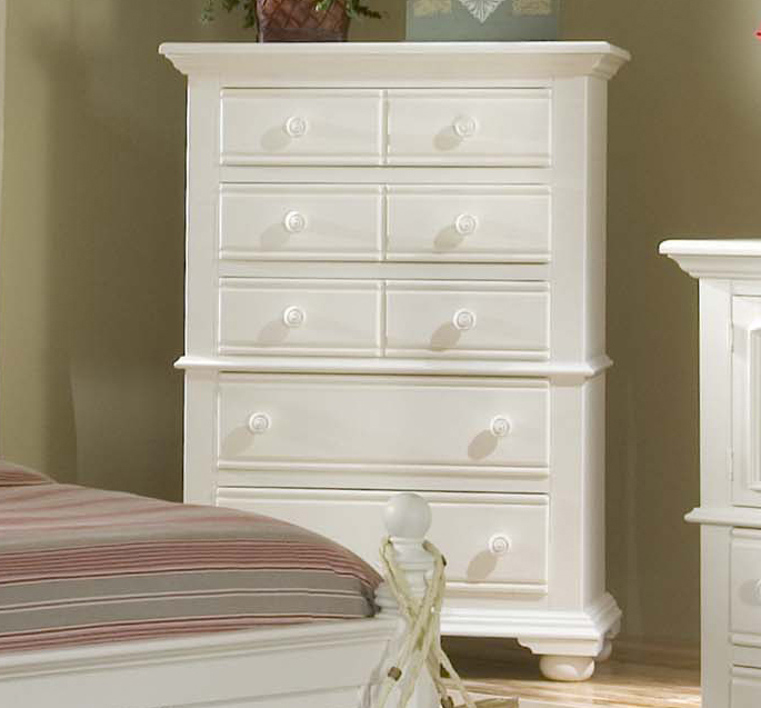 Cottage Traditions Distressed White Bedroom Furniture Set Free Shipping