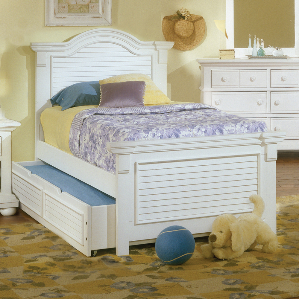 Cottage Traditions White Panel Bed American Woodcrafters