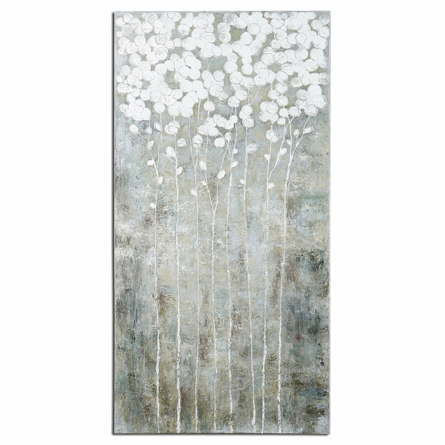 Cotton Florals Hand Painted Canvas Wall Art 41908