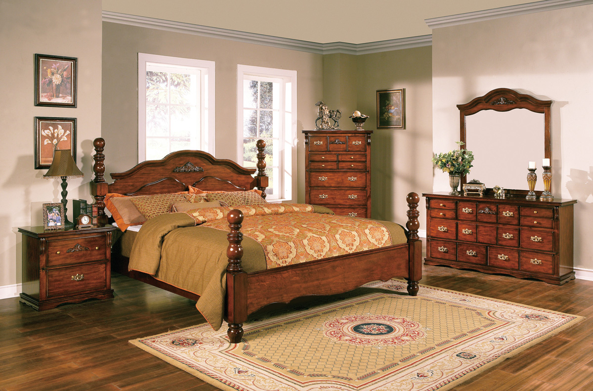 Coventry Solid Pine Rustic Style Bedroom Furniture Set Free Shipping