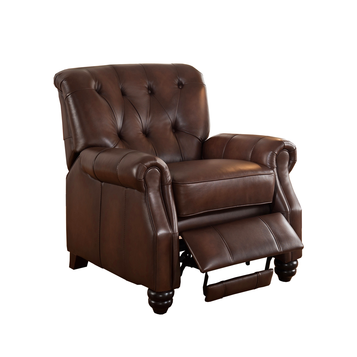 Covington Traditional Top Grain Brown Leather Pushback