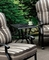 Crescent Contemporary Outdoor Antique Black Metal Accent End Table