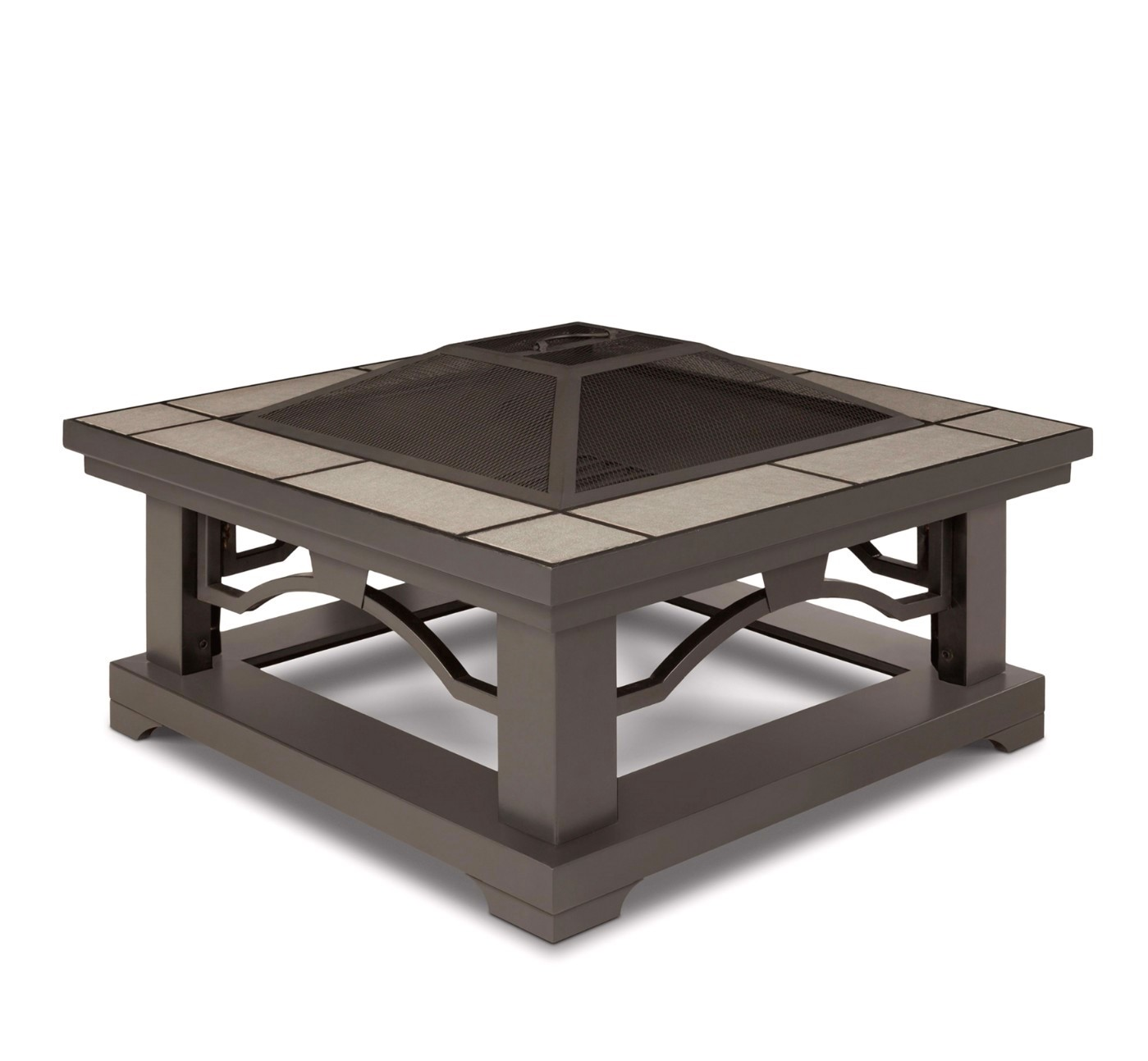 Crestone Outdoor 34 Quot Square Fire Pit In Grey With Grey