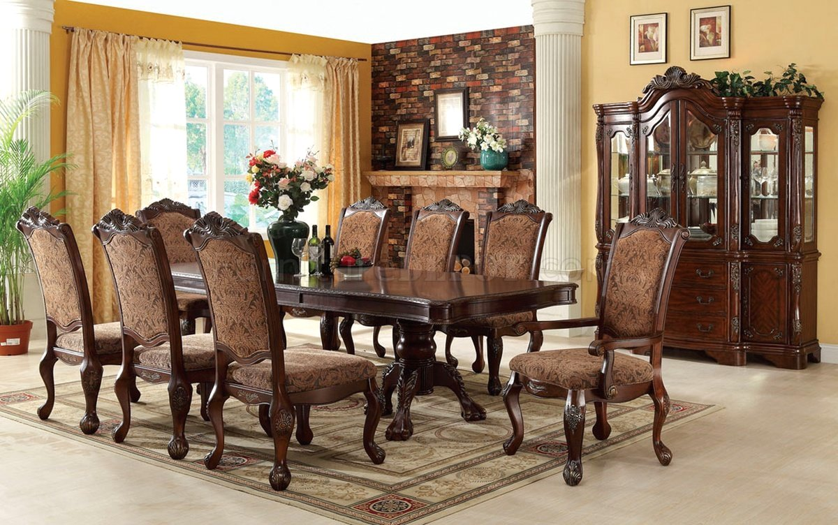 Cromwell elegant formal dining set with double pedestals for Formal dining set