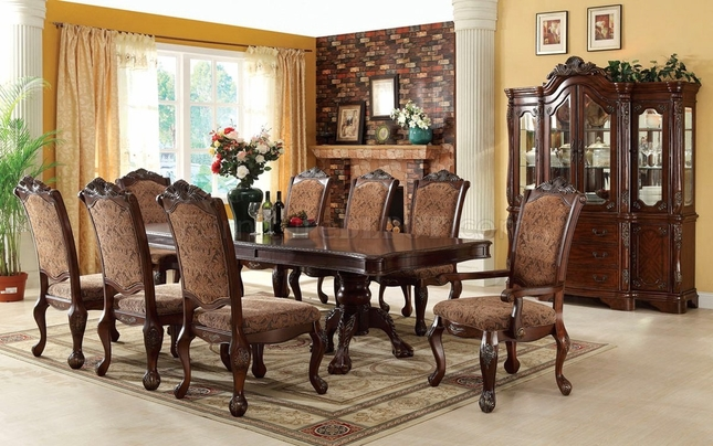 Cromwell Elegant Formal Dining Set With Double Pedestals