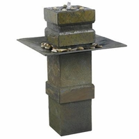 Cubist Zen Floor Water Fountain Natural Slate - 53210SL