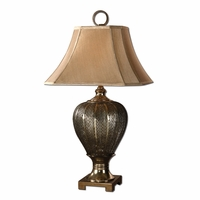 Cupello Antiqued Silver Pierced Metal Table Lamp 26521