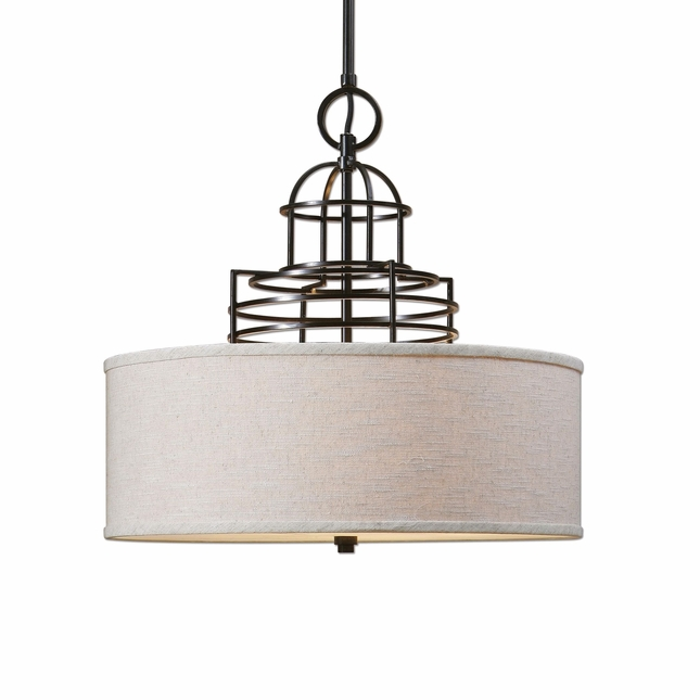Cupola Contemporary 3 Light Drum Shade 22021