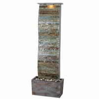 Curvature Slate Floor Fountain Natural Finish Zen - 50251SL