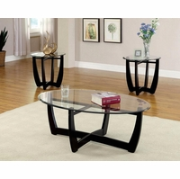 Dafni Contemporary Black Accent Tables Set