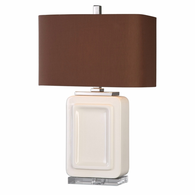 Dantzler Modern Table Lamp With Gloss White Body
