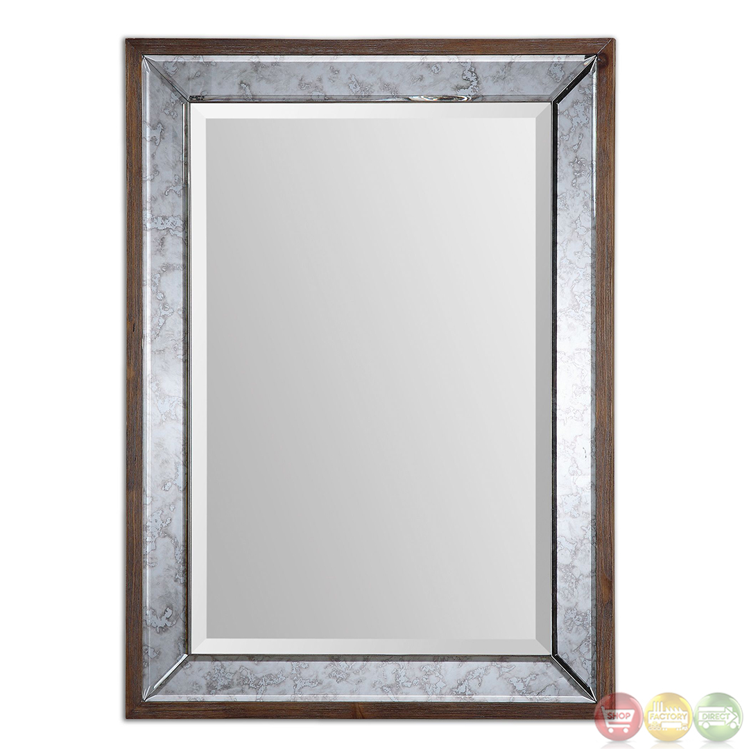 daria antiqued bevel framed mirror 14487