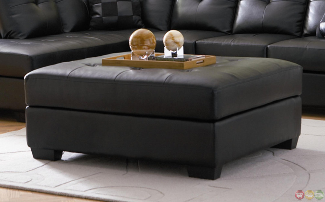 Darie black bonded leather sectonal sofa with left side chaise for Bonded leather sectional sofa with chaise
