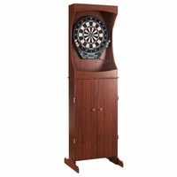 Carmelli Outlaw Free Standing Electronic Dartboard & Cabinet Set in Cherry Finish