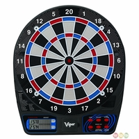 "Carmelli Viper 777 Electronic 15.5"" Soft Tip Dartboard with 26 Built-In Games"