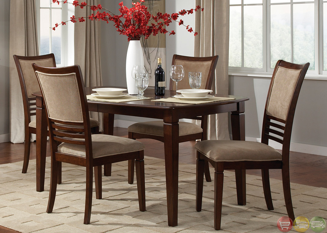 davenport amaretto finish casual dining room set. Black Bedroom Furniture Sets. Home Design Ideas