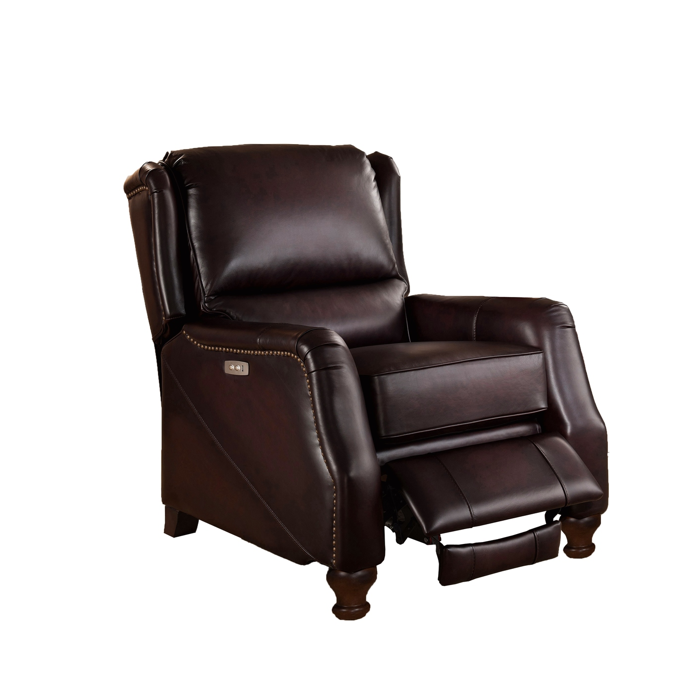 Davis Traditional Genuine Dark Brown Leather Powered
