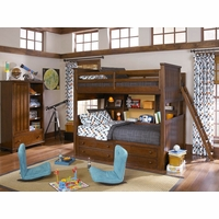Dawsons Ridge Country Full over Twin Bunk Storage Bed