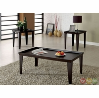 Dayton Contemporary Espresso Accent Tables Set CM4222
