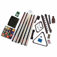 Carmelli Deluxe Complete Billiards Accessory Kit in Dark Mahogany Finish