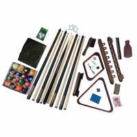 Carmelli Deluxe Complete Billiards Accessory Kit in Dark Walnut Finish