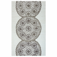 """Dimensions New Zealand Wool Rectangular Runner Area Rug 2'6""""x 10' Grey Off White"""
