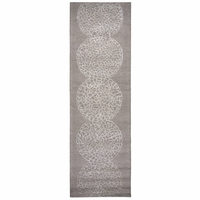 """Dimensions New Zealand Wool Runner Area Rug 2'6""""x 8' Taupe Beige Brown Medallion"""