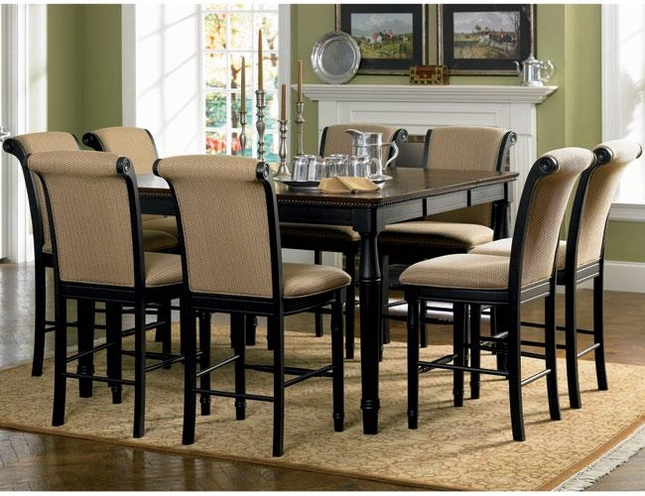Dining Set Counter Height Cappuccino Coaster - Counter height table for two