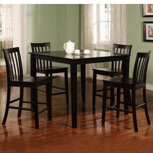 Dining Room Table Measurements: Dining Room Set Table Counter Height Black Finish Coaster