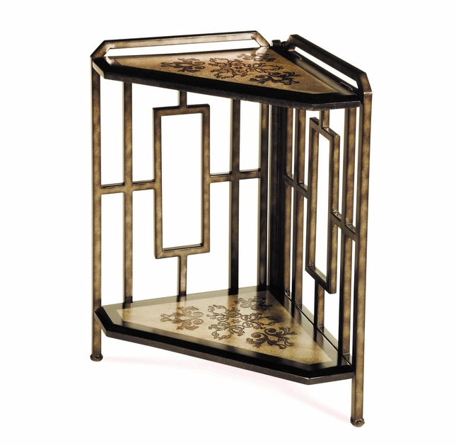 Discoveries 2 Tier Corner Etagere Table AZTC-028 by AICO