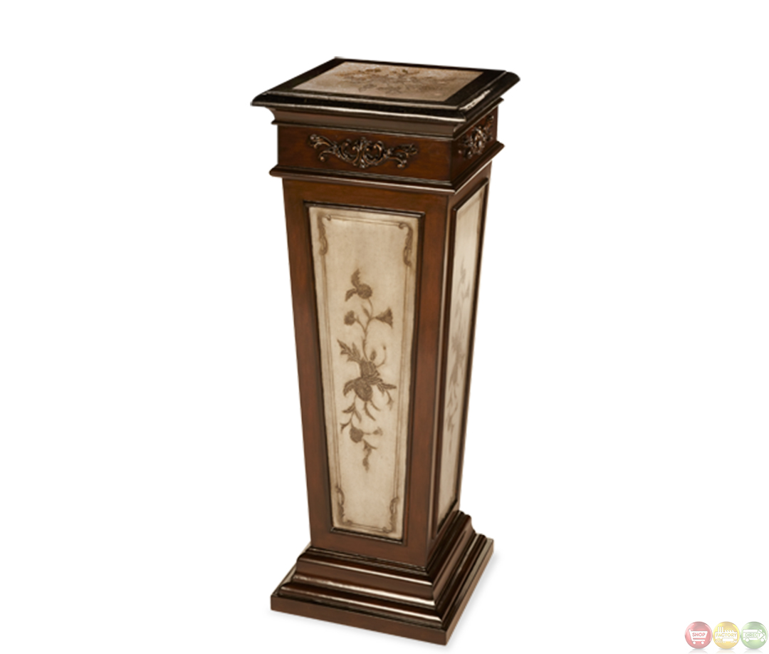 Discoveries Tall Entry Table With Etched Inlaid Pastor Stone Acrp 001 By Aico