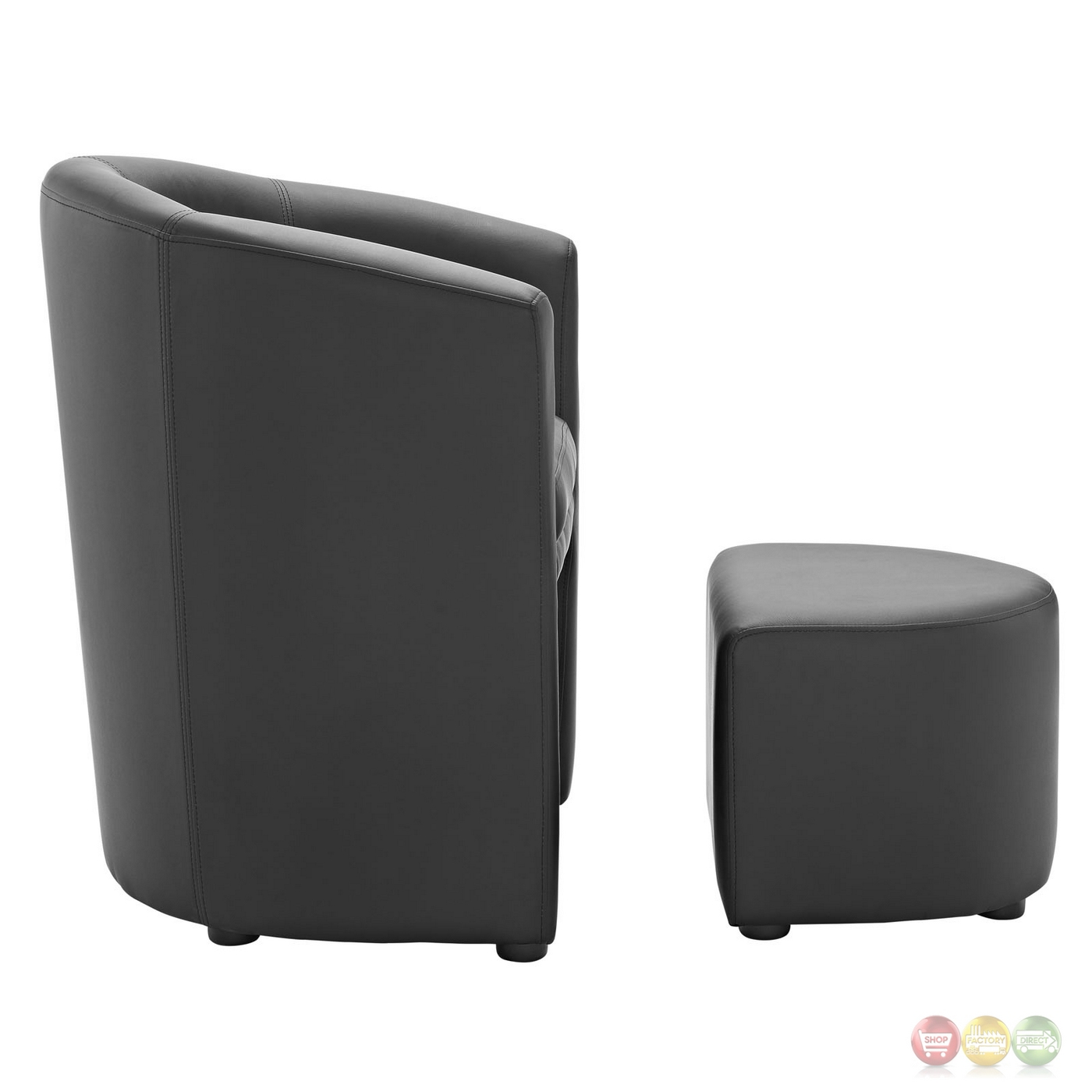 Divulge modern upholstered armchair with matching ottoman for Armchair with ottoman