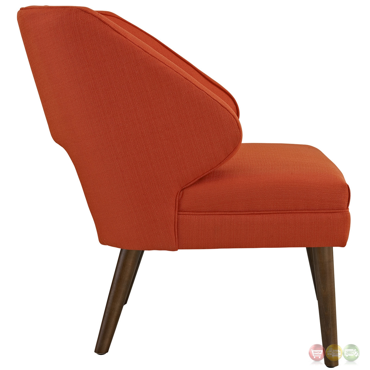 Dock modern fabric upholstered armchair with dowel wood for Armchair builder