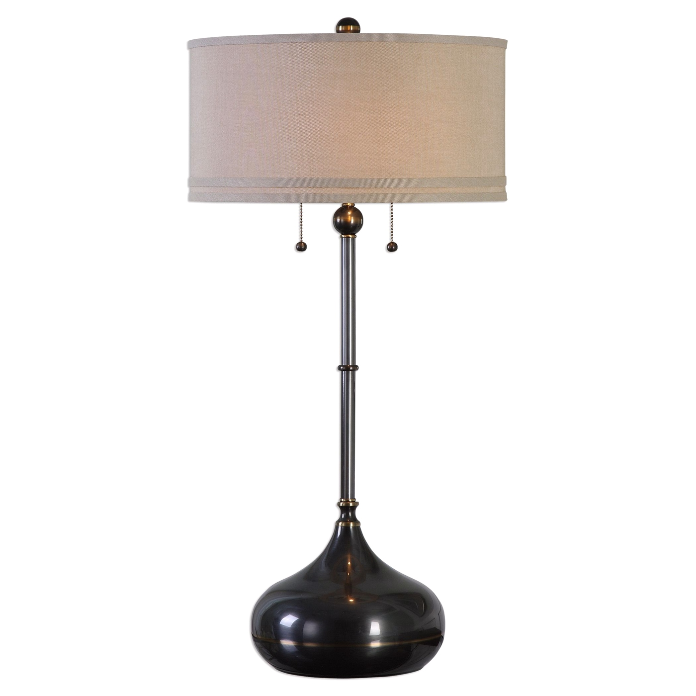 Dounia Dark Bronze Transitional Table Lamp With Round