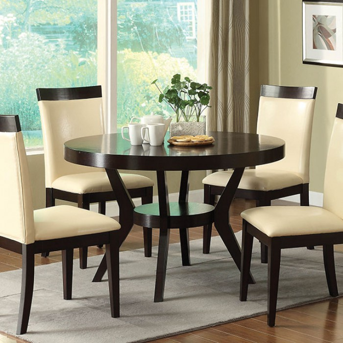 Casual Dining Room Furniture Sets: Downtown I Contemporary Espresso Casual Dining Set With